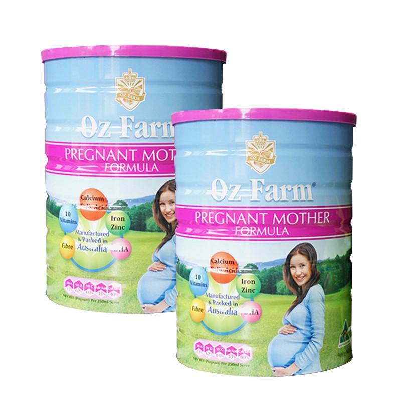 【澳洲直邮】孕妇奶粉900g 两罐 ozfarm含叶酸多维 孕期哺乳期营养