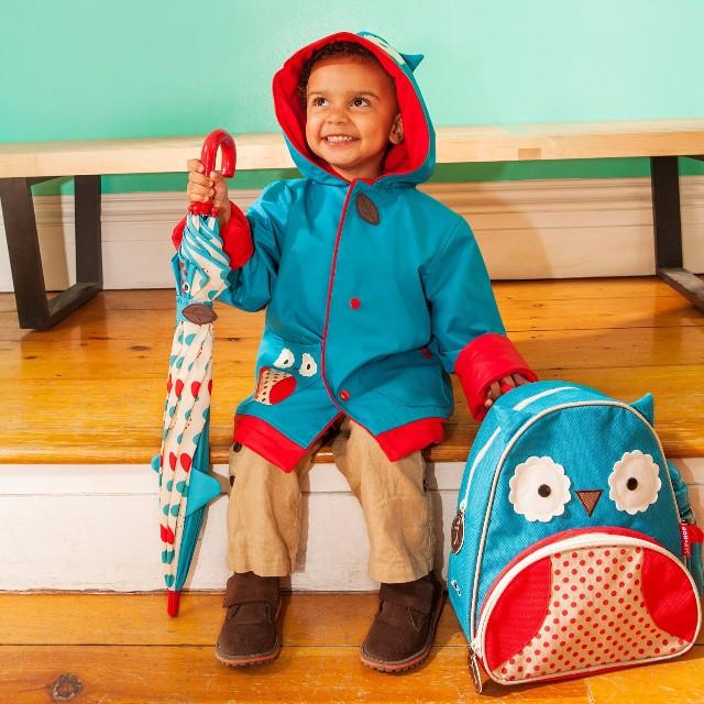 美国skip hop 可爱动物园小童雨伞 猫头鹰