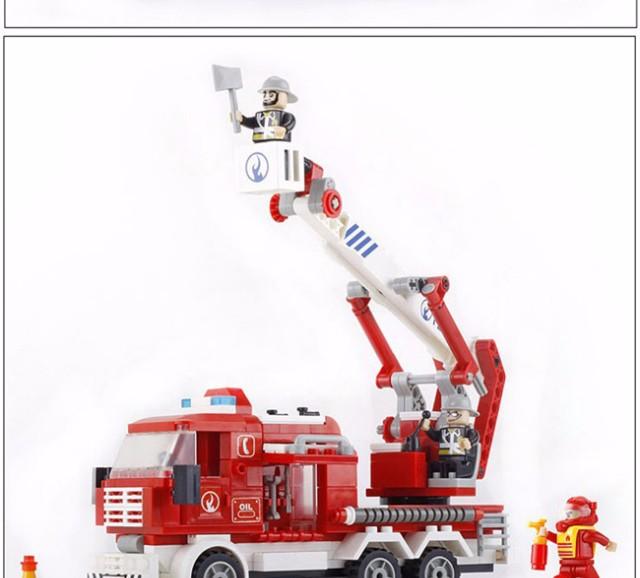 邦宝 消防系列 益智拼装小颗粒积木玩具